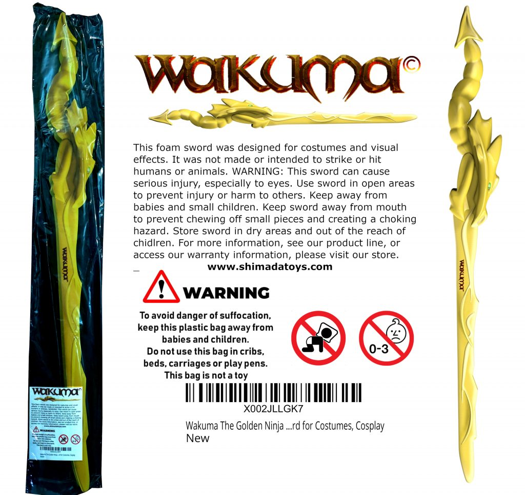 Golden Ninja Dragon Sword Packaging